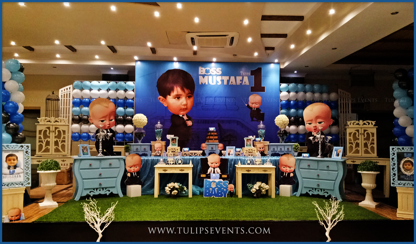 Boss baby party decor ideas by tulips events in pakistan for Dekoration fur babyparty