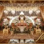 White Gold Pakistani Reception Stage Decor Setup Ideas 04