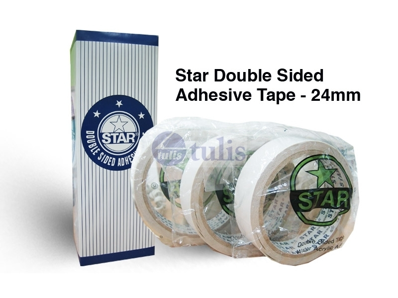 STAR DOUBLE SIDED TAPE 1X8M  Largest office supplies