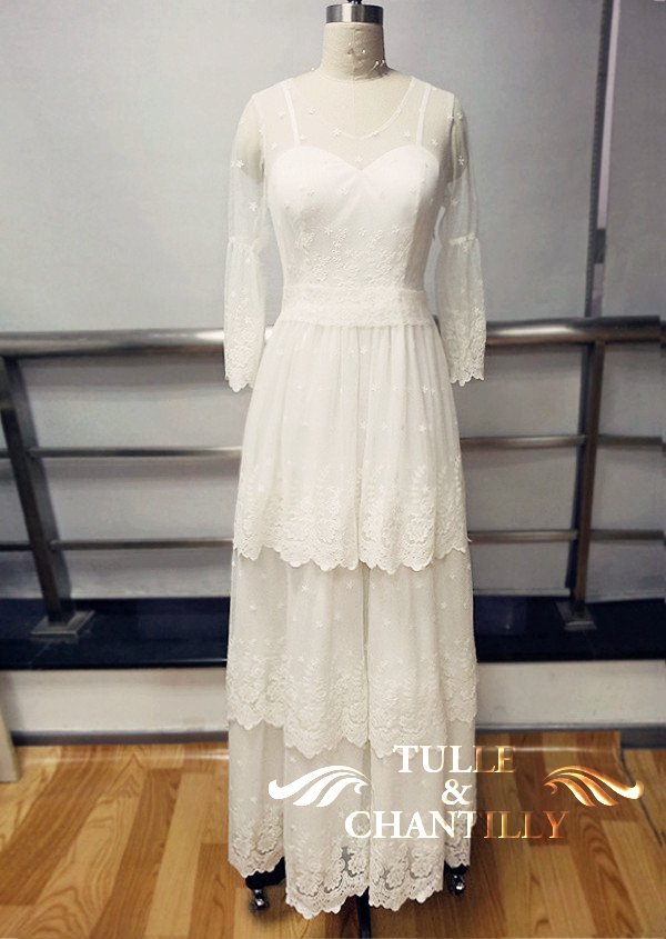 vintage wedding dresses  Tulle  Chantilly Wedding Blog