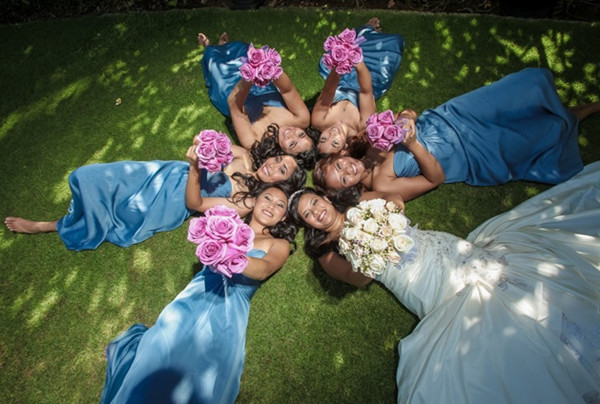 Amazing Blue Shade Floor Length Simple Bridesmaid Dresses