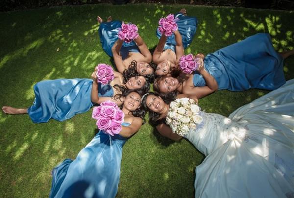 Amazing Blue Shade Floor Length Simple Bridesmaid Dresses