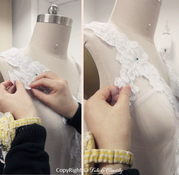 Process Show Time Vintage Lace Wedding Dress With Pretty