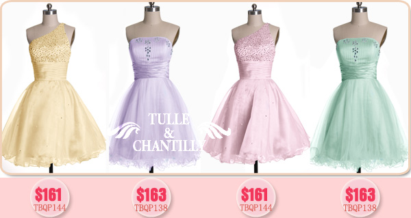 New Summer Bridesmaid Dress Fun Pretty Pastels  Tulle