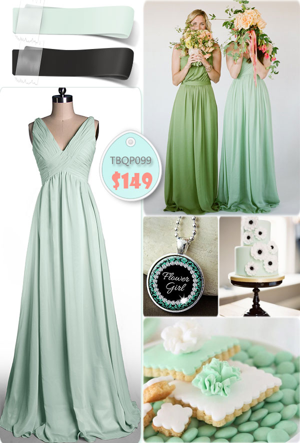 mint green dress with dots  Tulle  Chantilly Wedding Blog