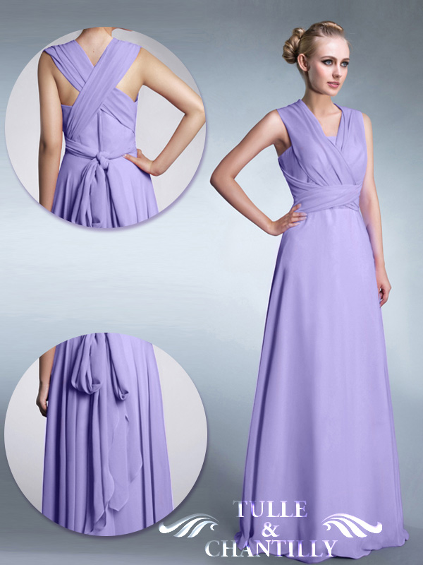 Tulle and Chantilly MultiWear Bridesmaid Dresses TBQP169 Get 4 Styles with Only 1 Dress