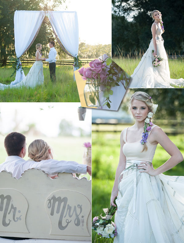 Tangled Wedding Decorations  Tulle  Chantilly Wedding Blog