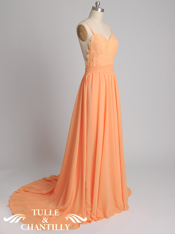 Design Your Own Dress Long Backless Lace Prom Dress with Draped Chiffon Skirt  Tulle
