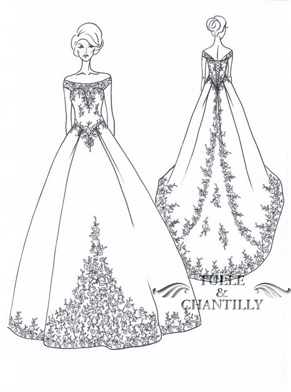 {Design Your Wedding Dress} A Traditional Off the Shoulder