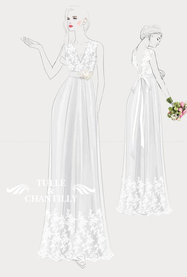 {Design Your Wedding Dress} Rustic V- Neck Lace Wedding
