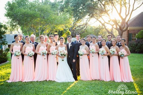 peach blush bridesmaid dresses  Tulle  Chantilly Wedding