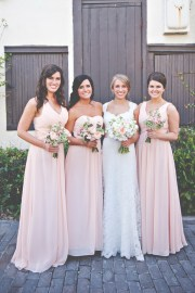 pink bridesmaid dresses tulle
