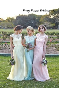 pastel bridesmaid dresses | Tulle & Chantilly Wedding Blog