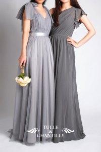 grey bridesmaid dresses | Tulle & Chantilly Wedding Blog