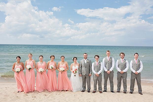 coral pink bridesmaid dresses  Tulle  Chantilly Wedding Blog