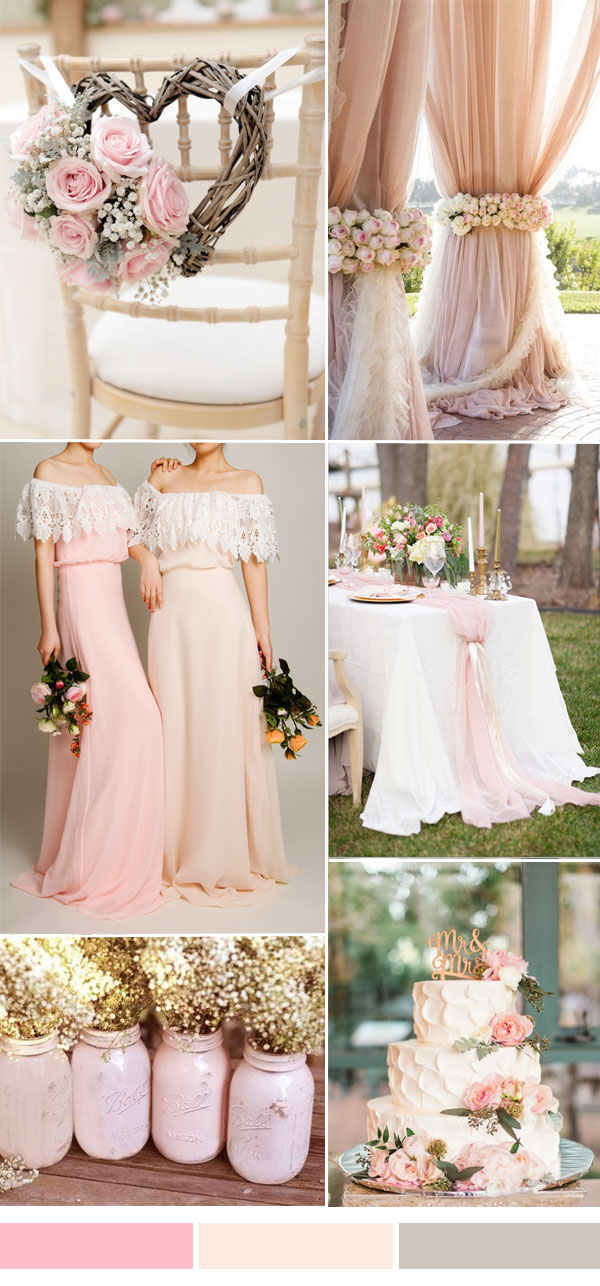 25 Hot Wedding Color Combination Ideas 20162017 and Bridesmaid Dresses Trends to Rock Your Big