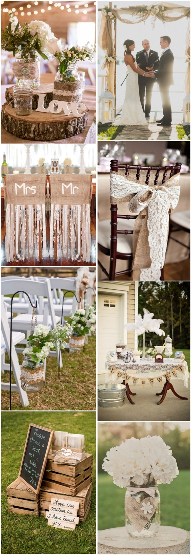 45 Chic Rustic Burlap  Lace Wedding Ideas and Inspiration  Tulle  Chantilly Wedding Blog