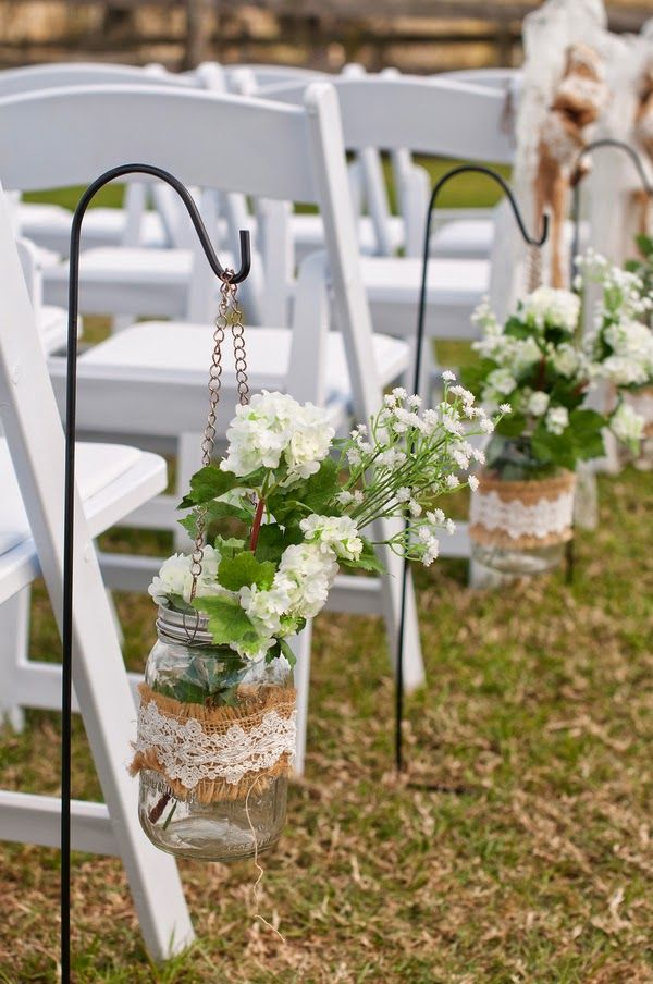 Rustic Burlap Lace Wedding Aisle Ideas Tulle Amp Chantilly