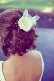 creative short wedding hairstyles