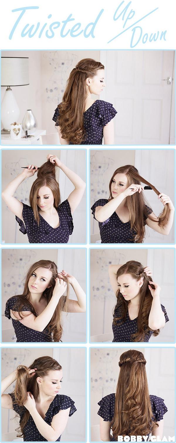 elegant wedding hairstyles: half up half down | tulle