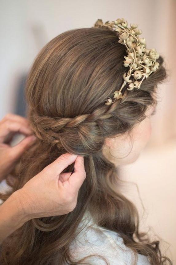 Elegant Wedding Hairstyles Half Up Half Down  Tulle  Chantilly Wedding Blog