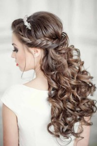 Elegant Wedding Hairstyles: Half Up Half Down