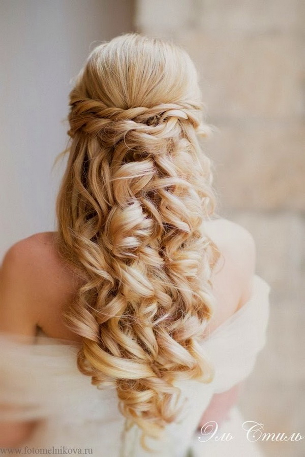 Elegant Wedding Hairstyles Half Up Half Down  Tulle  Chantilly Wedding Blog