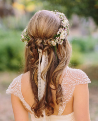 Elegant Wedding Hairstyles: Half Up Half Down   Tulle ...