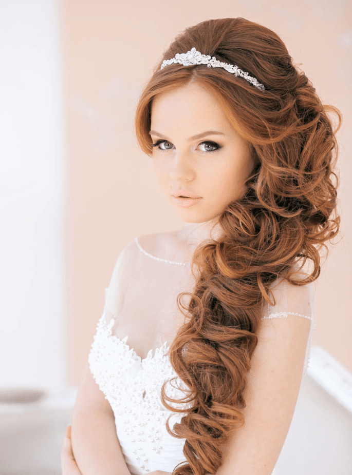 20 Elegant Wedding Hairstyles With Exquisite Headpieces Tulle