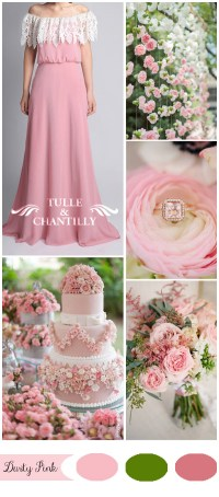 Five Gorgeous Pink Wedding Color Ideas and Bridesmaid ...