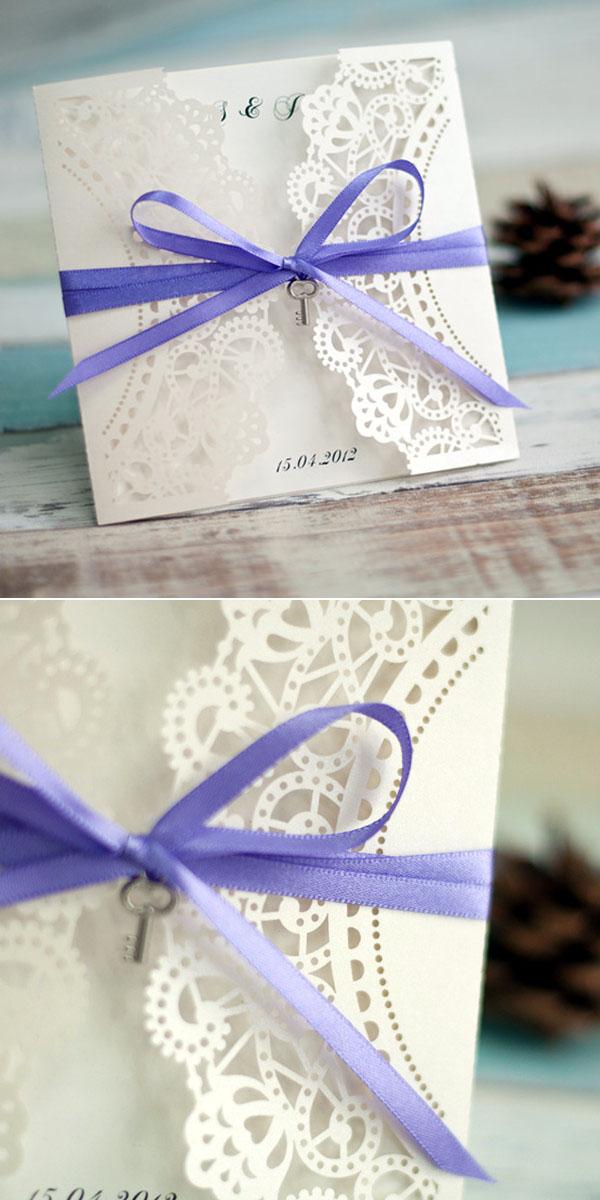 Laser Cut Lace Invitations