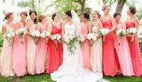 pink bridesmaid dresses | Tulle & Chantilly Wedding Blog