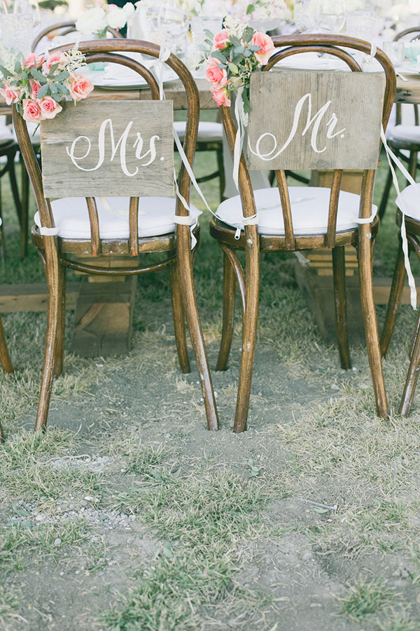 wedding bride and groom chairs folding dining room 30 awesome sign decor ideas for tulle rustic wood floral chair