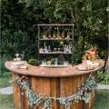 Outdoor rustic wedding bar ideas tulleandchantilly com