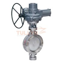Electric wafer hard seal butterfly valve