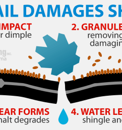 how hail damages shingles [ 1600 x 800 Pixel ]