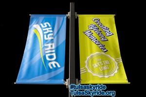 Tulsa Skyride: promotional banners