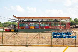 Tulsa Skyride's western station without Bell's in 2007 #tulsaskyride