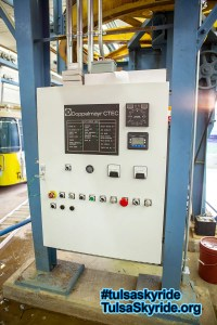 Tulsa Skyride: newly-installed Doppelmayr control panel