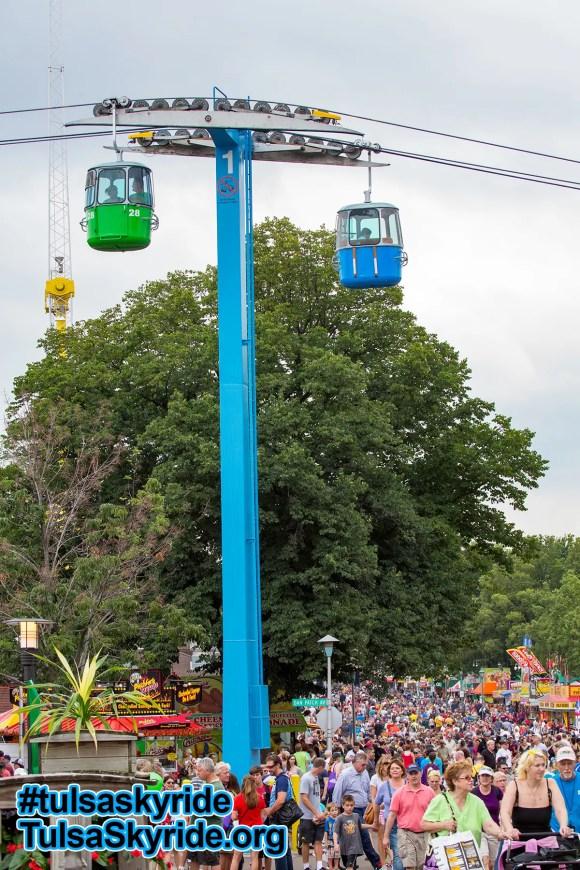 Minnesota State Fair Skyride and crowds