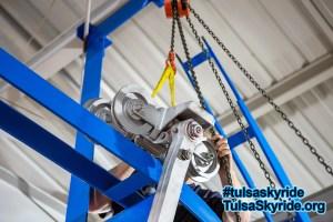 Tulsa Skyride: placing VR 101 grip on station track