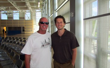 The Super Bowl Shuffle - Teaching Legend John White Poses for Photo with Super Bowl Winning Quarterback Jim McMahon