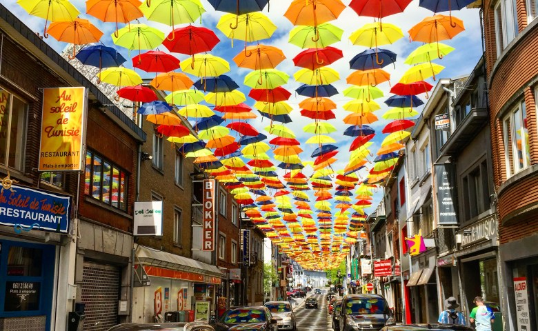 Colorfully Shaded Streets of Bastogne