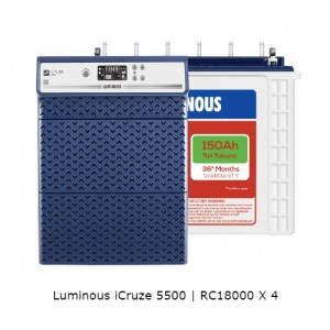 Luminous iCruze 5500 and Luminous Red Charge RC18000 – 150Ah Tall Tubular Battery