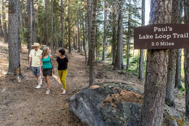 Adults hiking at lake 2019