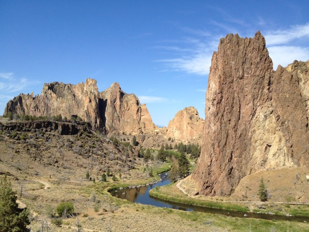 View from the stairs at Smith Rock State Park