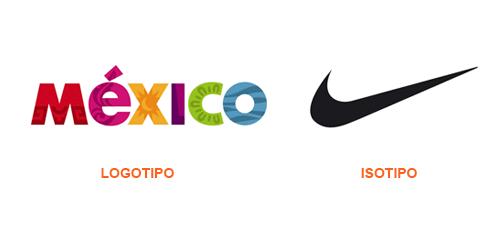 Dos ejemplos de marcas: un logotipo y un isotipo