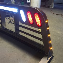 Led Bar Wiring Diagram Triumph Symbols Headache Racks Tumbleweed Mfg Outlaw Edition Rack With Amber Clearance Lights