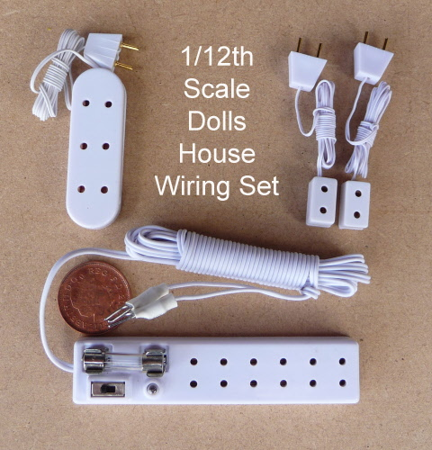 12th Scale Dolls House 12v Lighting Wiring Set