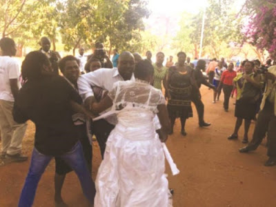 Fight Broke Out As Wife Storms Venue of Husband's Wedding to New Girlfriend